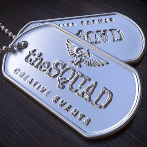 The Squad Creative Events Management Square Tags Logo